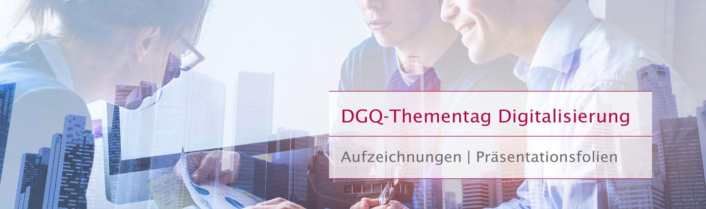 DGQ Thementag Digitalisierung