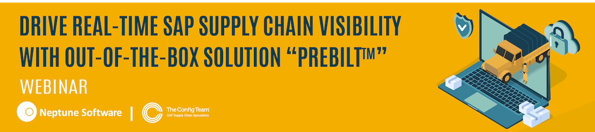 Real-time SAP Supply Chain Visibility - PreBuilt